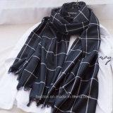 2017 Big Tartan Check Woven Cotton / acrylique Lady Stole / Fashion Scarf (HWBA091)