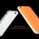Caisse en bois blanc tendante de vente chaude de téléphone de configuration du produit 2017 avec le cas de couverture arrière de téléphone de TPU pour l'iPhone 6 6s