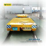 Carretilla plana eléctrica del carro plano del carril de la manipulación de materiales