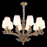 ホーム(SL2276-8)のためのガラス陰の照明付属品が付いている新しいデザイン鉄のシャンデリア