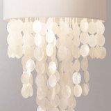Lâmpadas de suspensão do pendente do quarto do estúdio da iluminação da sala de jantar creativa romântica mediterrânea das luzes de teto do pendente do escudo