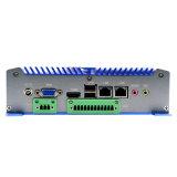 Mini PC duplo do LAN com o processador com LAN de 2 X, 4*USB portas do átomo D2550 de Intel, portas 6*COM