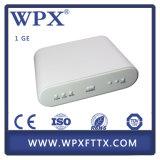 FTTH Gepon CPE 1fe Ge Terminal de fibra óptica Epon ONU
