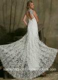 Schutzkappe Sleeves das Hochzeits-Kleid, das Spitze-Brautkleid Lb20178 bördelt