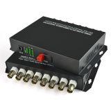Conversor de Vídeo para Fibra Conversor de Vídeo de Fibra Óptica de 8 Canais