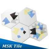 Tintenstrahl-geometrische Heiß-Verkaufenfußboden-Hexagon-Fliese