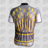 La chemise 100% courte de l'homme de polyester faisant un cycle le Jersey