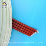Tubo aislador aislador de la fibra de vidrio de la funda del caucho del silicio del precio de fábrica