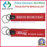Kundenspezifische Förderung entfernen billig vor Flug-Stickerei Keychains