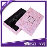 Caja de cosméticos de papel de lujo blanco llano con inserciones de bandeja