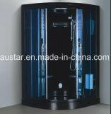 sauna de canto preta do vapor de 1200mm com chuveiro (AT-D0913F-1)