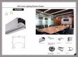 Штранге-прессовани профиля потолочного освещения СИД 8585 СИД привесное линейное алюминиевое