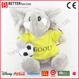 Elefante enchido futebol do brinquedo da promoção