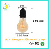 Bombillas bajas de las lámparas de filamento del tungsteno de Stoele A19 25W E26/E27