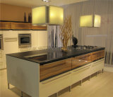 Alta cabina de cocina de calidad superior del PVC del lustre del MDF