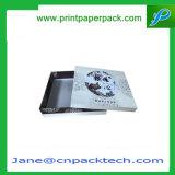Rectángulo de empaquetado del hombro del papel revestido del regalo de la joyería de encargo del favor