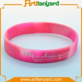 Wristband del silicone di disegno con il marchio