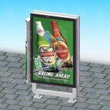 Bildschirmanzeige-Lampen-Pfosten-Rahmen LCD-Bildschirmanzeige im FreienMupis bekanntmachen