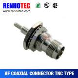 Conector de cable coaxial femenino del prensado de TNC