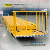 carro pesado motorizado 50t del transporte de cargo con las barandillas