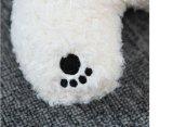 Almohadilla el dormir de la felpa del oso blanco