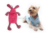 Brinquedo do cão com volume do Squeaker no coelho encantador conservado em estoque do vermelho do brinquedo do cão de animal de estimação da mastigação