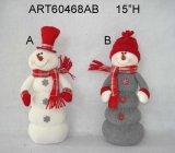 """12 """" H che si siedono Santa e pupazzo di neve, decorazione di Asst-Natale 2"""