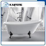 Baignoire blanche de pied de griffe de fini (KF-721C)