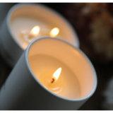 Vela perfumada del regalo de cumpleaños de la soja en tarro de cristal de cerámica