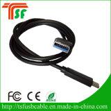 Type 100% micro de câble usb de passage de QC de FCC RoHS de la CE câble de transfert de C