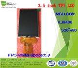 """3.5 """" 320X480MCU TFT LCD Vertoning, LCD Comité, Ili9488, 40pin met het Scherm van de Aanraking van de Optie"""