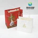 ギフト、無光沢の薄板にされるのポリエステルロープのための便利なクラフトのペーパー印刷袋