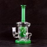 Narghilé di vetro di Shisha dei tubi di fumo dell'acqua del riciclatore variopinto di disegno degli S.U.A.