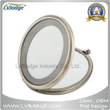 O espelho do estojo compato da forma do metal, Metal o espelho compato