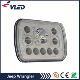 ジープのラングラーJk 2のドア4のドアのランドローバーの擁護者のための黒8のインチLEDのヘッドライト作業ライト置換のペア