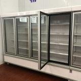 Dispositivo di raffreddamento di vetro della bevanda del portello del supermercato di lusso