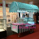 Carro do indicador do gelado do Popsicle do gabinete de indicador da baixa temperatura
