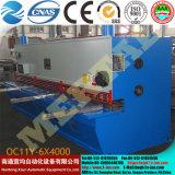 QC11y-6*2500 máquina de corte da guilhotina (CNC) hidráulica, máquina de estaca da placa de aço da ferragem