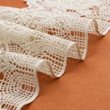 Merletto chimico del collo di disegno della fabbrica di Guangzhou della biancheria del cotone delle signore del cotone bianco speciale del Crochet