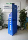 Ser visualización al por menor de la paleta del suelo de la cartulina acanalada de la flauta con la barra de metal para Tplink