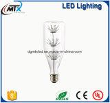Bulbo de Edison LED de la vendimia de la bombilla E27 3W del LED edison, lámpara ligera de cristal del filamento de ST64 LED, lámparas ahorros de energía blancas calientes AC220V ligero