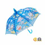 Manuelle Sicherheits-geöffnete Kind-gerader Regenschirm
