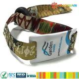 Wristbands случая винила NFC Ntag213 ткани RFID празднества нот