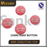 Выполненный на заказ большой металл материальная кнопка кнопки латуни для портмона