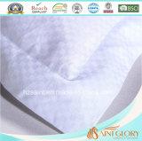 Coperchio puro del cuscino del cotone di prezzi del jacquard della protezione bianca poco costosa del cuscino