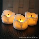 Nuevas velas ópticas de los restaurantes de fibra LED de las baterías del diseño