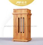 Естественной ретро науглероживанная конструкцией коробка подарка Bamboo вина упаковывая