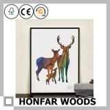 Pintura decorativa da arte no frame de madeira preto para a HOME/hotel