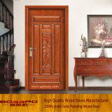 固体チークの木製の現代切り分けるドア(GSP2-031)