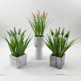 Oniongrassの人工的な装飾は鉢植え植える
